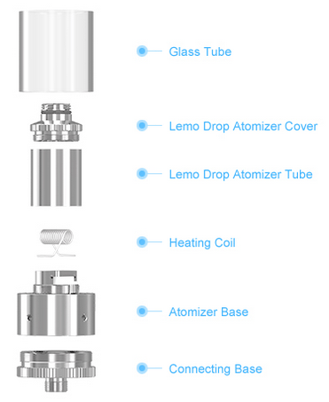 Lemo Drop Atomizer Tube Details