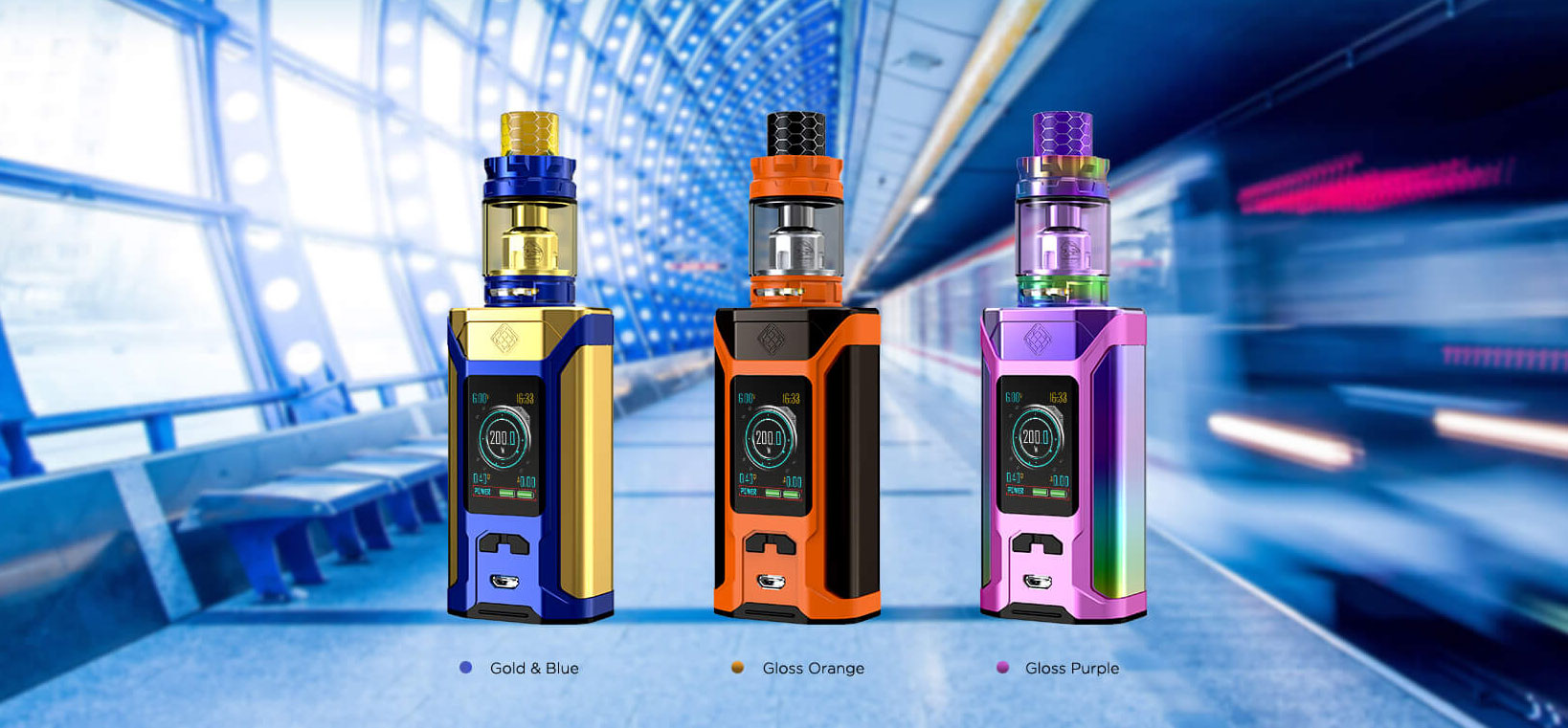 Wimsec SINUOUS RAVAGE230 Mod with GNOME King Vape Starter Kit